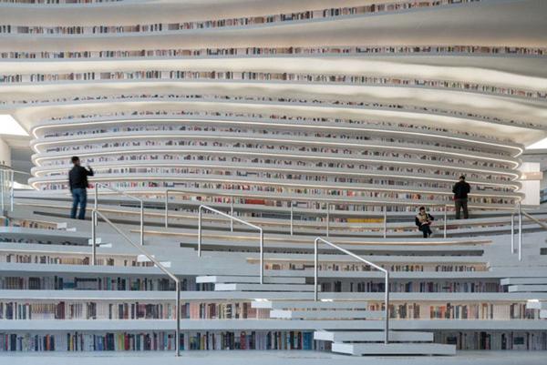 عکس های جالب از یک کتابخانه رویایی