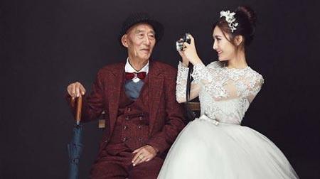 ماجرای ازدواج این دختر جوان با پدر بزرگش (عکس)