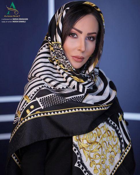 مدل شدن پرستو صالحی برای برند شال و روسری