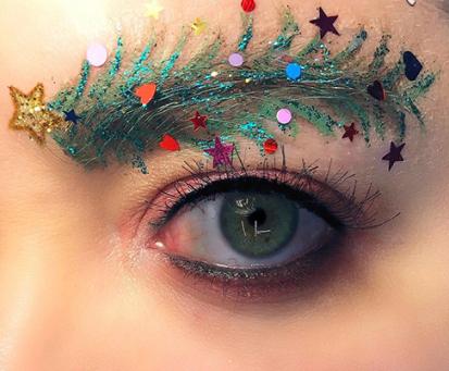 مدل ابروهای عجیب مخصوص کریسمس 2019