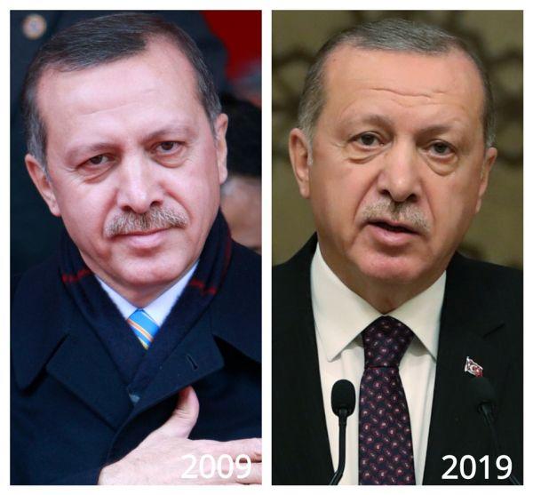 چالش جدید عکس ده سال پیش از رهبران دنیا