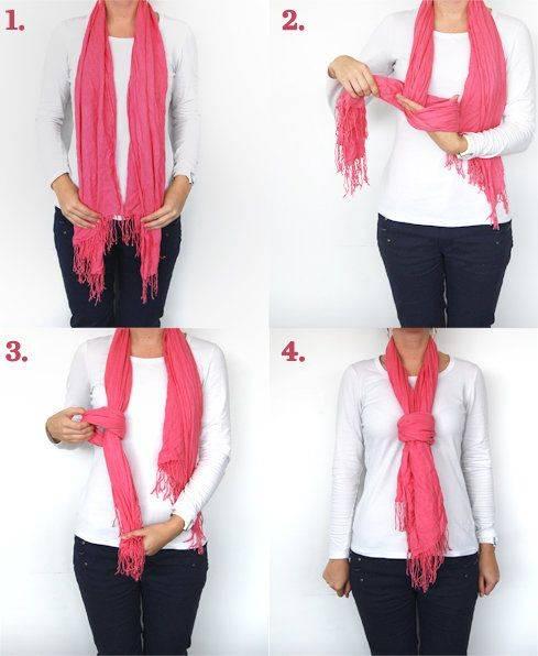 آموزش تصویری بستن شال گردن در زمستان