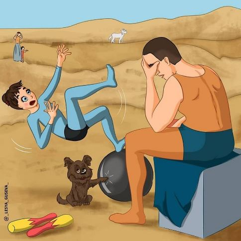 شوخی بسیار جالب یک هنرمند با نقاشی های مشهور (عکس)