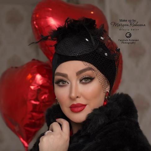 آرایش متفاوت نفیسه روشن و الهام حمیدی در روز عشق