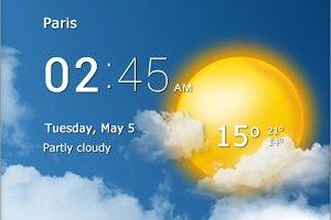 نرم افزار اطلاعات آب و هوا مخصوص موبایل