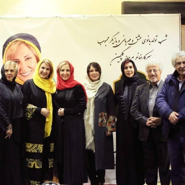 حضور هنرمندان در جشن تولد 50 سالگی مرجانه گلچین (عکس)