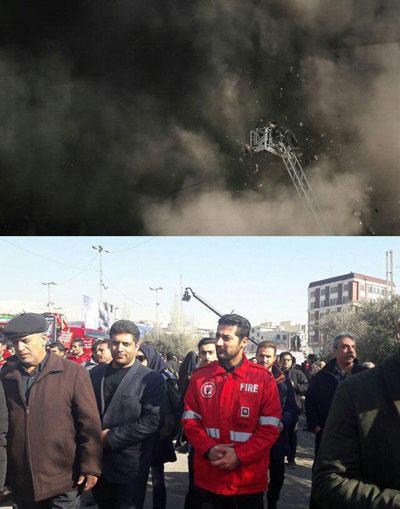 جزئیات و تصاویر تشییع شهدای آتش نشان پلاسکو + فیلم