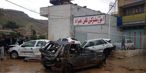 تصاویر دلخراش سیل ناگهانی شیراز در 5 فروردین