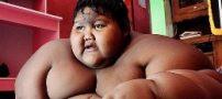 کاهش وزن باورنکردنی این پسر بچه (عکس)