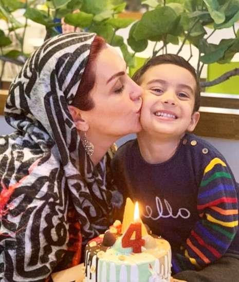 ماه چهره خلیلی در تولد 4 سالگی پسرش (عکس)