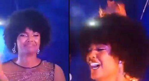 ملکه زیبایی در مراسم تاجگذاری آتش گرفت (عکس)