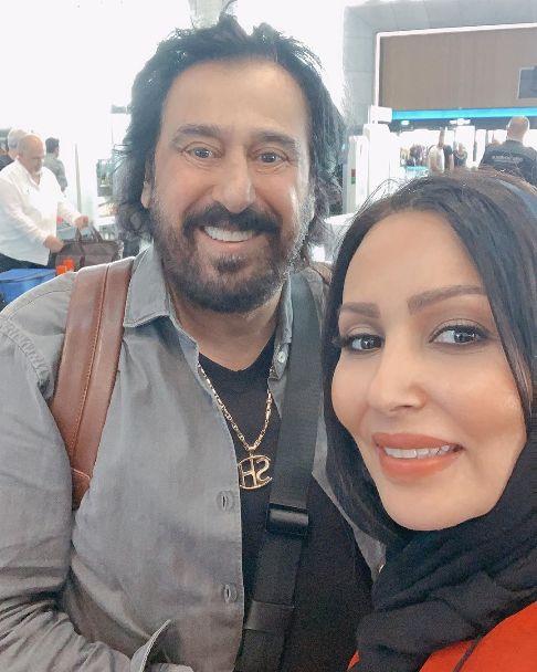 دیدار بازیگر زن ایرانی با شهرام شب پره (عکس)