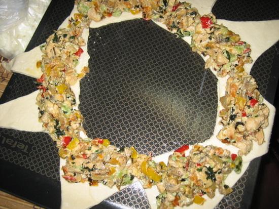 طرز تهیه رینگ مرغ و پیازچه مجلسی (عکس)
