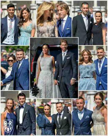 تصاویر جذاب عروسی راموس و همسرش