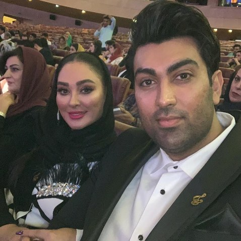 الهام حمیدی در کنار شوهرش در جشن حافظ (عکس)