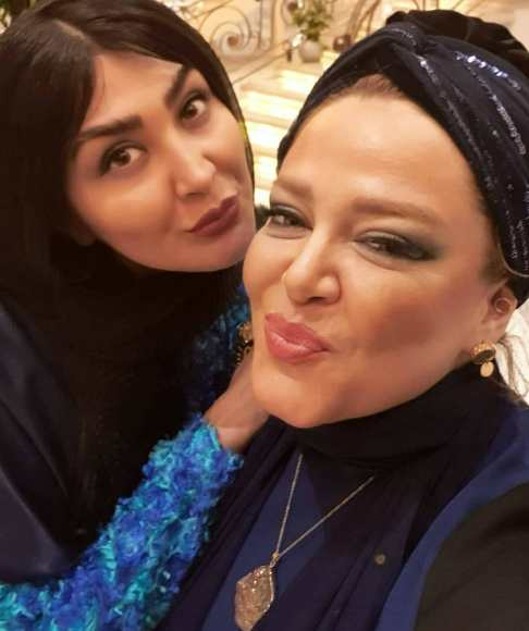 تیپ مریم معصومی و بهاره رهنما و همسرش در مهمانی
