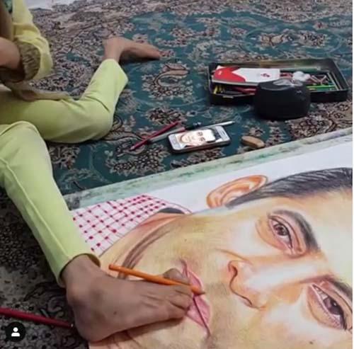 ابراز محبت سلمان خان به دختر هنرمند و معلول ایرانی (عکس)