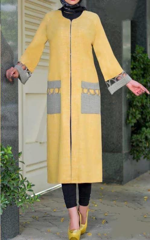 مدل مانتوی دانشجویی بلند