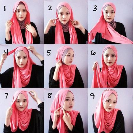 آموزش تصویری بستن روسری لبنانی
