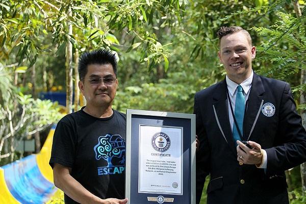 طولانیترین سرسره آبی جهان در گینس ثبت شد