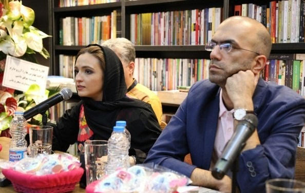 تصاویری از لاله اسکندری و گلاره عباسی در مراسم ادبی