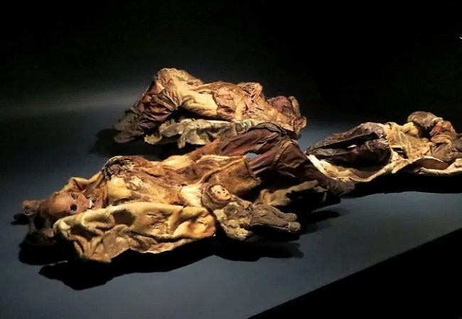 مومیایی کودکی که زنده زنده دفن شد