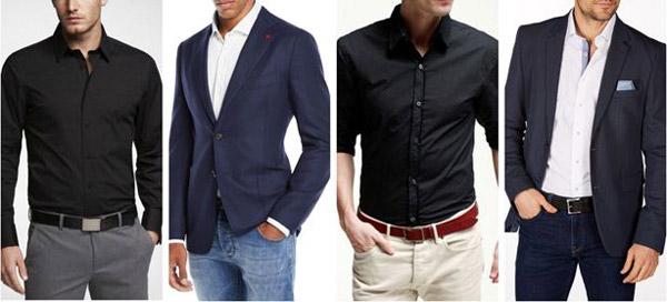 پیراهن سفید یا مشکی مجلسی مردانه
