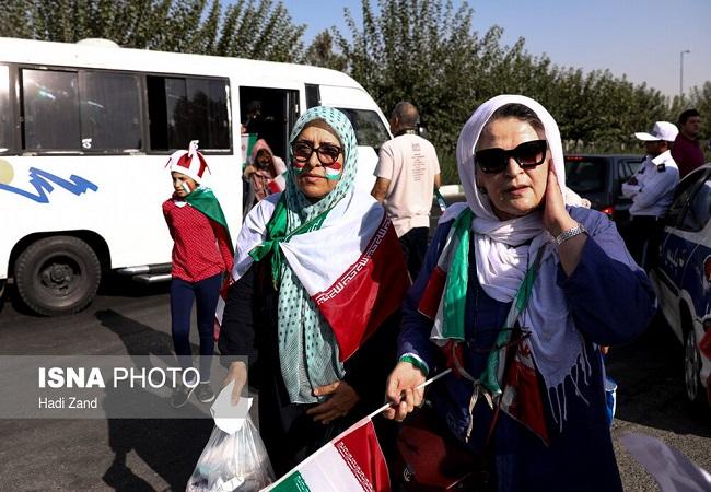 سارا و نیکار در ورزشگاه آزادی+ تصاویر