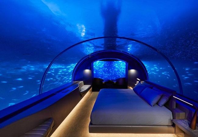 اولین تصاویر از ویلای لاکچری زیر آب!