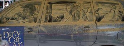 نقاشی های زیبا روی ماشین های کثیف
