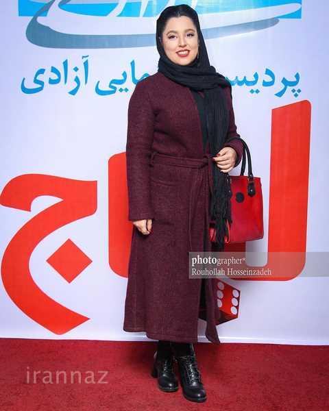 استایل زمستانه مهسا هاشمی در مراسم اکران فیلم «لیلاج»