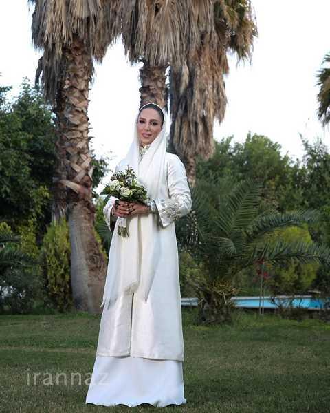 مدل حلقه، دسته گل، لباس عروس و میکاپ سوگل طهماسبی در روز مراسم عروسی