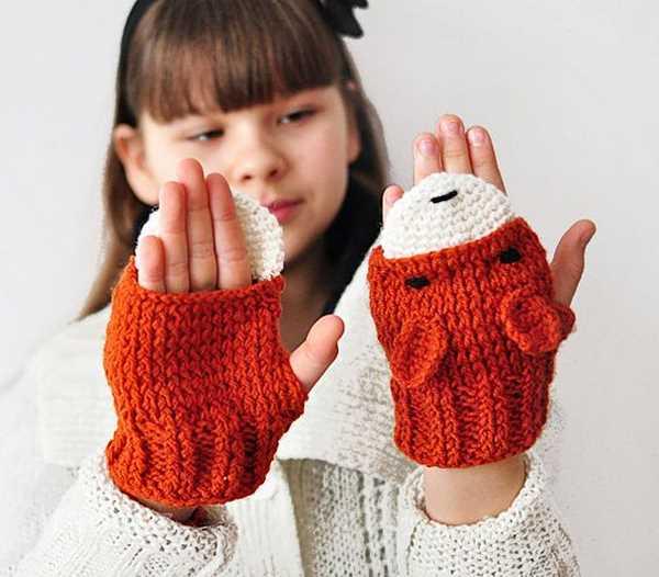 50 طرح جدید از مدل های دستکش بافتنی بچه گانه