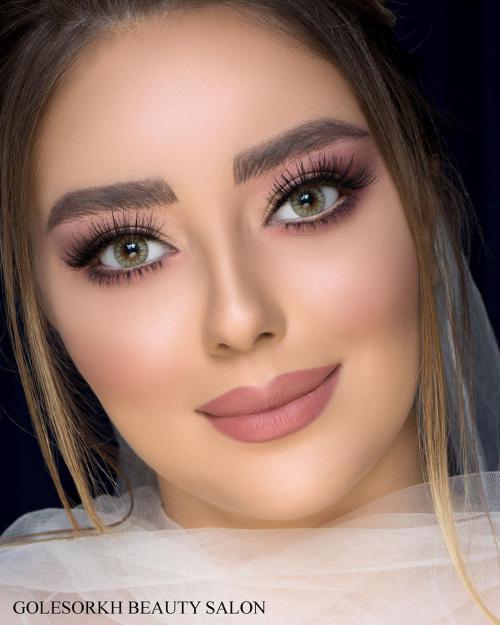 50 عکس آرایش صورت و مو عروس جدید ویژه سال 99 - 2020