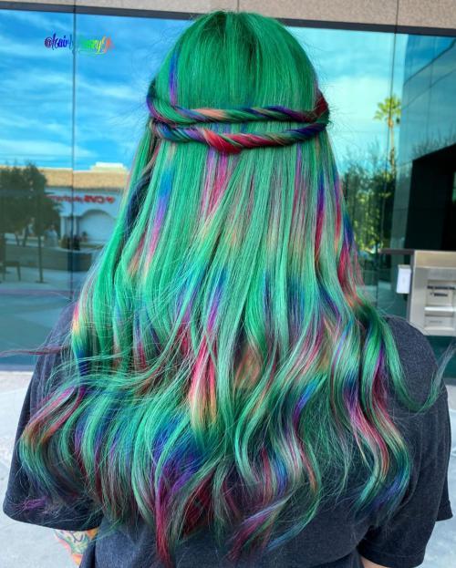 مدل رنگ مو فانتزی دخترانه جدید 2020 جذاب