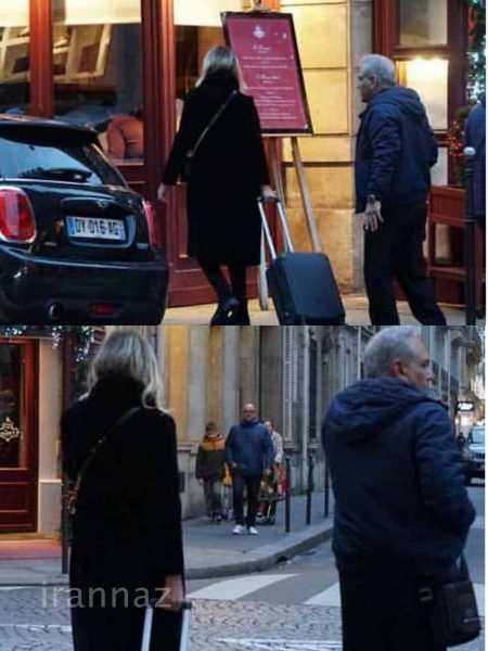 عکس جنجالی و لو رفته از مهران مدیری با یک زن در پاریس + عکس