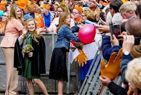 طراحی شیک لباس های دختران پادشاه هلند (ملکه ماکسیما)
