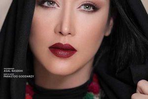 عکس سارا منجزی به عنوان مدل آرایشی