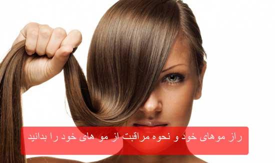 راز موهای خود و نحوه مراقبت از مو های خود را بدانید