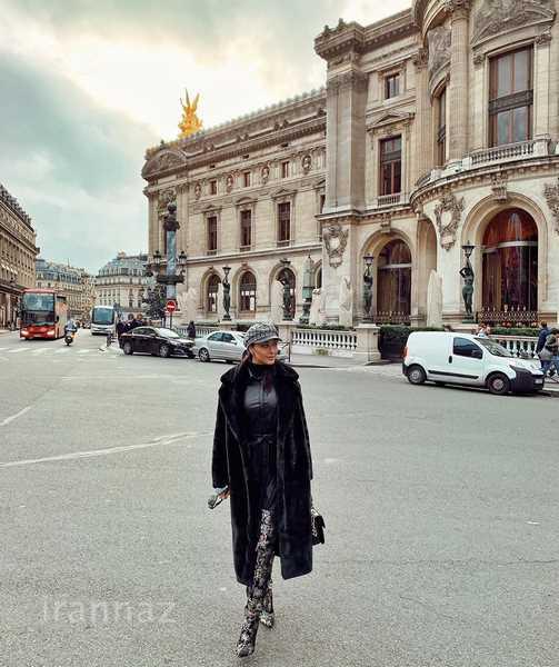 پاریس گردی صدف طاهریان با تیپ +18