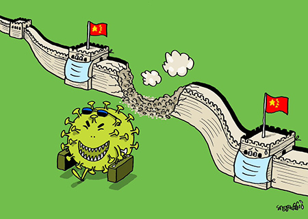 کاریکاتور معنادار ویروس کرونا