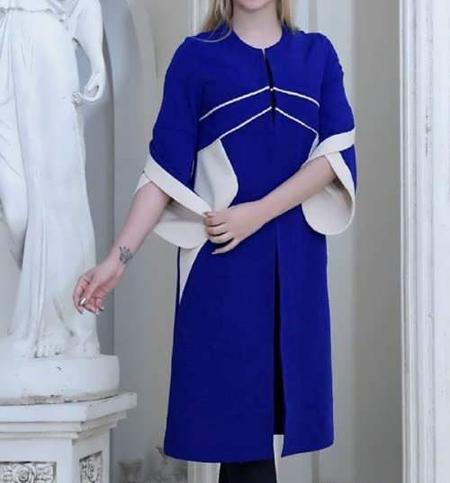 جدیدترین مدلهای مانتو آبی کلاسیک به رنگ سال 99