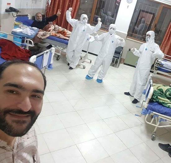 سلفی خندان بیمار کرونایی با پرستاران و مصاحبه (عکس)