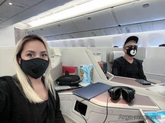 شاد مهر عقیلی و همسرش در حال مبارزه با کرونا (عکس)