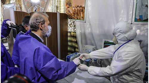 لاریجانی رئیس مجلس ایران به کرونا مبتلا شد + عکس