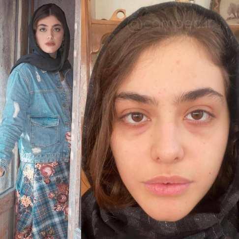 ریحانه پارسا در چالش عکس بدون آرایش