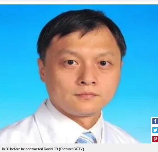 تغییر رنگ پوست دو دکتر مبتلا به کرونا در چین