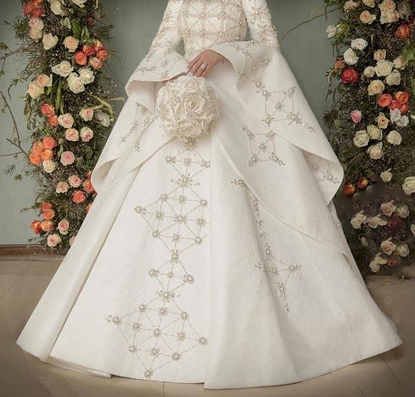 لباس عروس اصیل ایرانی و دست دوز الهام حمیدی (عکس)