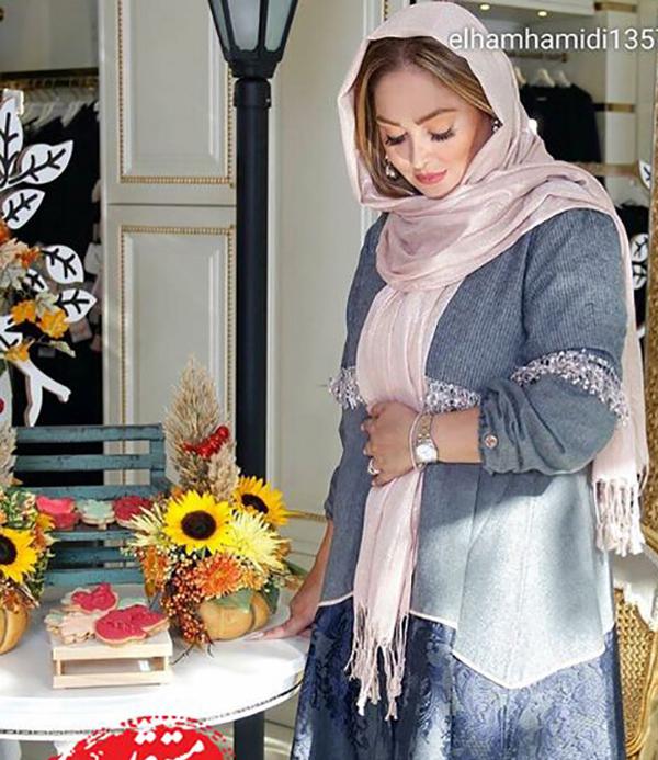 حاملگی و خرید سیسمونی الهام حمیدی در کنار مادر و شوهرش (عکس)