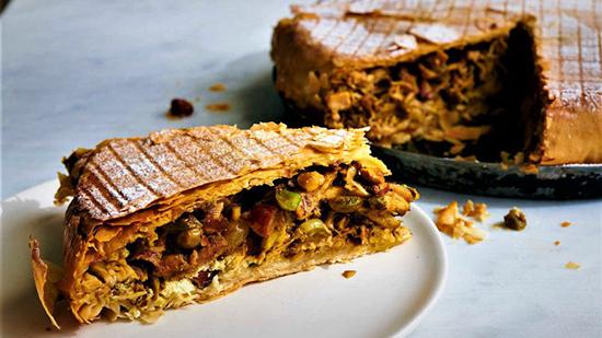 طرز تهیه غذای مراکشی چیکن پاستیلا مجلسی
